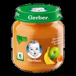 Пюре Gerber яблоко-абрикос-банан, с 6 месяцев, 130г