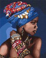 Pictura pe numere 40x50 Frumusețea orientală  4661