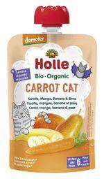 Пюре Carrot Cat с морковкой, манго, бананом, грушей с 6 месяцев Holle Bio Organic, 100г