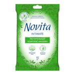 Влажные салфетки для интимной гигиены Novita, 15 шт.