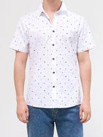 Рубашка HOUSE Белый с принтом yw249