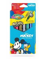 Набор из 6 цветных металлических маркеров - Colorino Disney Mickey Mouse