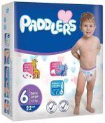 Подгузники Paddlers Jumbo №6 XLarge +15kg 38