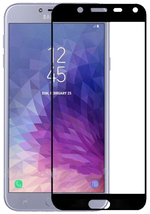 Защитное стекло Cover'X для Samsung J4 2018 (All Glue) Black