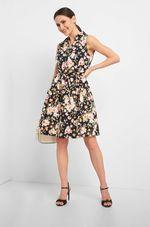 Платье ORSAY Черный в цветочек