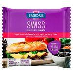Плавленый сыр Emborg Swiss Emmentaler ломтики, 100г