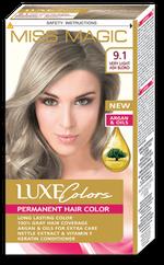 Vopsea p/u păr, SOLVEX Miss Magic Luxe Colors, 108 ml., 9.1 - Blond natural-cenușiu