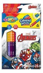 Карандаши цветные двусторонние - Colorino Disney Avengers