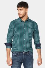 Рубашка TOM TAILOR Зеленый в клетку 1015359 18982