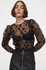 Блуза H&M Чёрный