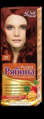 Краска для волос, ACME Рябина Avena, 100 мл., 233 - Рубин