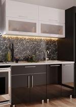 Кухонный гарнитур Bafimob Modern (High Gloss) Mini 1.4m Black/White