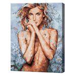 Прекрасная блондинка, 40х50 см, картина по номерам Артукул: GX33836