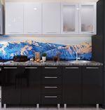 Кухонный гарнитур Bafimob Lena (High Gloss) 1.8m Black/White