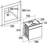 Электрический духовой шкаф Cata MRA7108WH