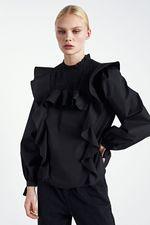 Блуза ZARA Чёрный 8763/201/800