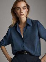 Блуза Massimo Dutti Синий 5113/613/407
