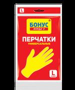 Перчатки хозяйственные универсальные Бонус, L
