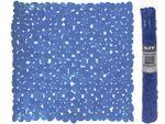 Коврик для душа 53X53cm MSV Galets темн-голуб, PVC