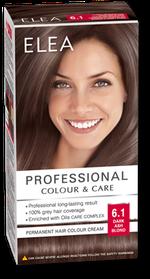 Краска для волос,SOLVEX Elea, 138 мл., 6.1 - Тёмно-русый пепельный