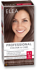 Vopsea p/u păr, SOLVEX Elea, 138 ml., 6.1 - Blond cenușiu închis