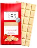 Ciocolată albă  cu bucăți de căpșună Weinrichs 1895 100g