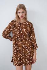 Платье ZARA Светло коричневый 0003/310/700