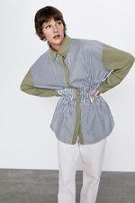Блуза ZARA Белый в полоску 0264/675/506