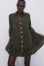 Платье ZARA Хаки 7942/495/505