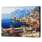 Городок под Альпами, 40х50 см, картина по номерам  BS4790