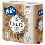 GRITE - Туалетная бумага Ecological 3 слоя 4 рулона 14,85м