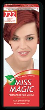 Краска для волос,SOLVEX Miss Magic, 90 мл., 722 - Светлый махагон