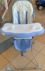 Scaun pentru hrănire, albastru, cod 109677