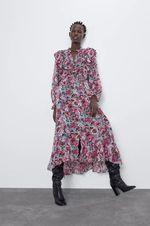 Платье ZARA Цветочный принт 8805/179/330