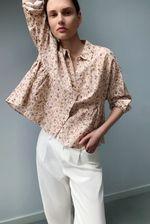 Блуза ZARA Бежевый в цветочек 9479/067/620