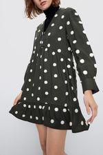 Платье ZARA Хаки 8741/025/505