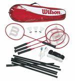 Набор в чехле (4 ракетки + 3 воланчика + сетка) Wilson Tour STL POLES4 PC KIT 3 WRT8444003 (3813)