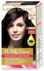 Краска для волос,SOLVEX Miss Magic Luxe Colors, 108 мл., 105 (5.75) - Тёмно-каштановый