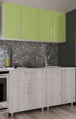 Кухонный гарнитур Bafimob Mini (High Gloss) 1.4m Green/Carton