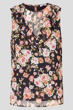 Блуза ORSAY Черный с принтом 663571