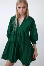 Платье ZARA Зеленый 8659/201/501