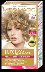 Краска для волос,SOLVEX Miss Magic Luxe Colors, 108 мл., 121 (8.3) - Золотисто-русый