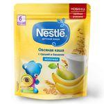 Каша овсяная-груша-банан с молоком Nestle, с 6 месяцев, 220г