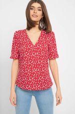 Блуза ORSAY Красный с принтом