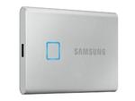 2,0 ТБ (USB3.2 / Type-C) Samsung Portable SSD T7, серый (85x57x8 мм, 58 г, R / W: 1050/1000 МБ / с)