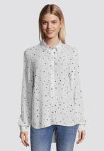 Блуза TOM TAILOR Белая в горошек