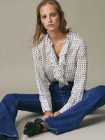 Блуза Massimo Dutti Белый с принтом 5111/829/712