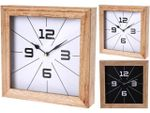 Часы настенные квадратные 24Х24cm, дерево, черный/белый