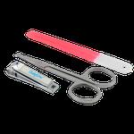 Набор косметический: пилочка, ножницы, щипчики