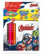 Цветные карандаши Jumbo - Colorino Disney Avengers